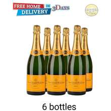 Veuve Clicquot Champagne Yellow Label Brut X 6