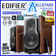 Edifier (*Limited Stocks are Available NOW 03Feb2021*) (ALLSTARS : We are Back / Audio Promo) S2000MKIII Bookshelf 2.0 Hi-Res Audio Bluetooth Speaker / Wood Color (Warranty 2years with BanLeong)