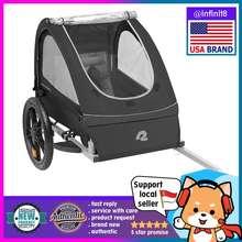 infinit8 [Sg Stock-Usa Brand] Retrospec Rover Kids Bicycle Trailer Single Seater Passenger Children'S Foldable Wagon Bike