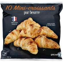 PICARD 10 Pure Butter Traditional Mini French Croissants - Frozen