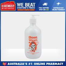 Goat Soap Goat Body Wash With Oatmeal 500ml Suitable For Dry Itchy Or Sensitive Skin (EXP Date:04/2024) 燕麦味 山羊奶沐浴露 [Chemist Warehouse]