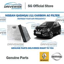 Nissan Qashqai J11 Aircon Filter Genuine Renault/ Carbon Cabin Filter