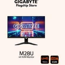 """GIGABYTE M28U 4K 144Hz Kvm Gaming Monitor - 28"""" Ips Uhd 144Hz & 120Hz"""
