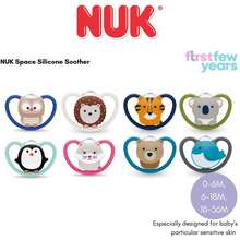 NUK Space Silicone Soother (0-6,6-18,18-36M)