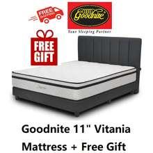 "Goodnite (Free Shipping) Vitania 11"" Posture Spring Mattress"