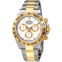 Rolex Cosmograph Daytona White Dial Stainless Steel and 18K Yellow Gold Oyster Bracelet Bracelet Automatic Mens Watch 116503 WSO