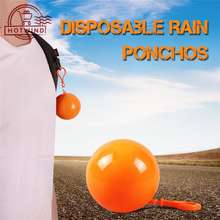 Hotwind Hw Practical Portable Rain Ponchos Ball Adults Disposable Extra Thick Emergency Waterproof Raincoat