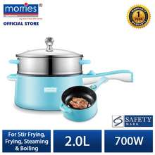 MORRIES 2L Multi Function Fry Pan With Steamer Ms 222Mcs
