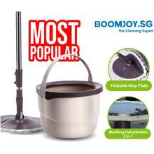 Boomjoy .Sg M10 Spin Mop New Spin Flat Mop 360° And Bucket Set Included