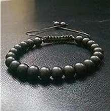 Power Lkbeads 6Mm Power Stone Grounding Black Onyx Shamballa Gemstone Macrame Adjustable Straps Bracelet