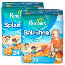 Pampers USA _ Splashers Swim Pants Size 3-4 - 2 Pack