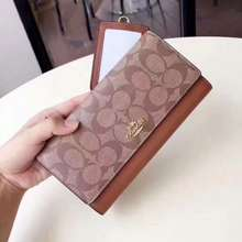 Coach Lady Long Wallet Brown With Free Card Holder