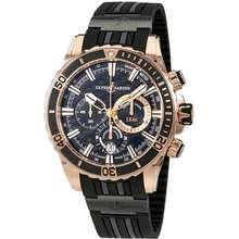 Ulysse Nardin Diver Automatic Mens Chronograph Watch 1502 151 3C/92