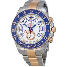 Rolex Pre owned Yacht Master II White Dial Stainless Steel and 18K Everose Gold Oyster Bracelet Automatic Mens Watch 116681WASO