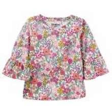 OshKosh OKGL064 BGosh Floral Print Bell-Sleeve Top Blouse