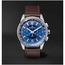 Jaeger-LeCoultre Jaeger LeCoultre Polaris Automatic Chronograph 42mm Stainless Steel and Leather Watch, Ref. No. 9028480 Men Blue