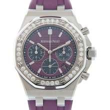 Audemars Piguet Royal Oak Offshore Chronograph Diamond Purple Dial Ladies Watch 26231ST.ZZ.D075CA.01