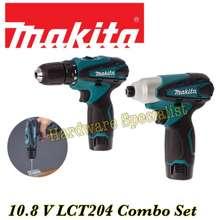 Makita 10.8V Lct204 Combo Kit Cordless Drill