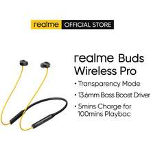 realme Buds Wireless Pro / Transparency Mode / 13.6Mm Bass Boost Driver / 5Mins Charge For 100Mins Playback (Yellow)