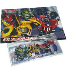 Transformers [Shop Malaysia] One Team Coloring Book With Pencil Bag Set