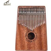 Gecko ✦ K17M 17-Key Kalimba Thumb Piano Mbira Mahogany Solid Wood With Carry Bag