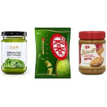 Amorepacific AMORE OSULLOC green tea milk spread jam 200g 2 Biscoff Lotus Creamy Spread jam 400g 2 Green tae Kitkat 135g 2