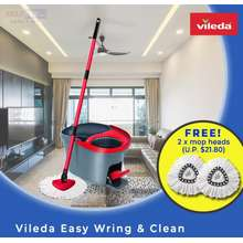 vileda Easy Wring & Clean W Free 2 Extra Mop Heads (6 Months Local Warranty)