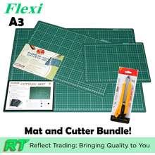 FLEXI 2-in-1 Bundle with A3 Multi-Purpose Dense Non-Slip Durable Cutting Mat and Heavy Duty Paper Cutter