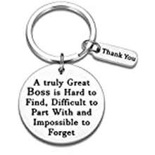 HUGO BOSS Boss Gifts Mentor Appreciation Keychain For Supervisor Leader Coworker A Truly Great Boss Is Hard To Find Boss'S Day Leaving Boss Retirement Thank You Birthday Christmas Gift