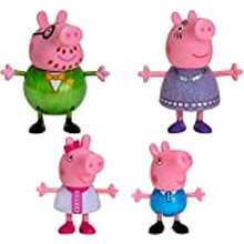 """Peppa Pig Peppa Pig Fancy Family – 4 Figure Pack, 3"""" Tall – Including Peppa Pig Characters Daddy Pig, Mummy Pig, Peppa Pig, And George – Toys For Toddlers, Kindergarteners, Kids"""