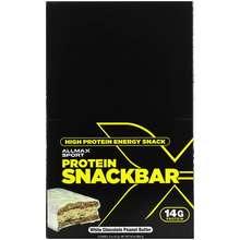 ALLMAX Nutrition High Protein Energy Snack Protein Bar White Chocolate Peanut Butter 12 Bars 2 oz 57 g Each
