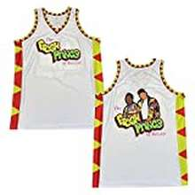 Fresh Zxcvb Men'S Of Bel-Air 90S Theme Party Short Sleeve The Fresh Prince Hip Hop Basketball Jersey (White, L, L)
