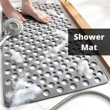 【Sg】Tpe Bath Tub Mat/Shower Mat With Suction Cups & Drain Holes Anti-Skid/Non-Slip/Quick Dry/Soft/Safety