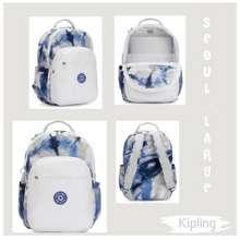 "Kipling Seoul Large 15"" Laptop Backpack Tie Dye Blue"