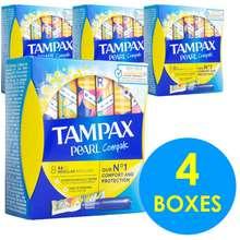 TAMPAX Pearl Compak Regular (8 Tampons) (4 Boxes)