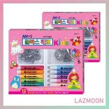 Amos Glass Deco Kids1 Set / Glass Decor / Peelable Kit / Glass / Sticker / Glass Sticker Window / Toy / Craft Toy / Art Toy / Educational Toy / Kids Art / Art / Craft / Kids Toy / Kids Play (Glass Deco 10.5Ml*12Ea+Sun-Decor*12Ea)