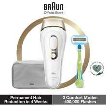 Braun Ipl Silk Expert Pro 5 Pl 5014 Ipl Permanent Hair Removal For Women With Pouch Intense Pulsed Light White Gold
