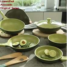 Lowenthal [Germany] Avocado Nature Frying Pan Wok Grill Pan Glass Lid Series