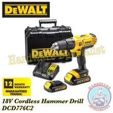DeWalt 18V Cordless Hammer Drill Driver Dcd776C2, Brand New