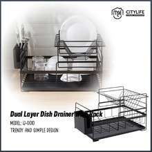 Citylife - Dual Layer Dish Drainer with Rack IJ-0010