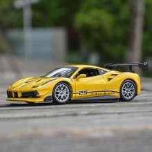 Bburago 1:24 Ferrari 488 Challenge Sports Car Static Die Cast Vehicles Collectible Model Car Toys