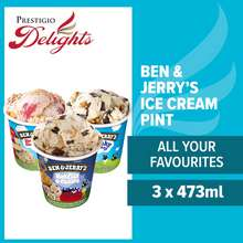 """Ben & Jerry's Ice Cream Pint """"All Your Favourites"""" Bundle Of 3 - By Prestigio Delights"""