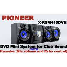 Pioneer DVD Mini System for Club Sound X-RSM410DVH WITH Karaoke (Mic volume and Echo control)