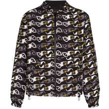 Versace Hooded Sunglasses Print Jacket Black