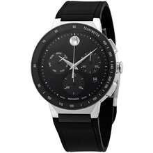 Movado Sapphire Chronograph Black Dial Mens Watch 0607240