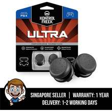 KontrolFreek Ultra For Playstation 4 (Ps4) Controller, 2 Performance Thumbsticks, 2 High-Rise Concave - Black