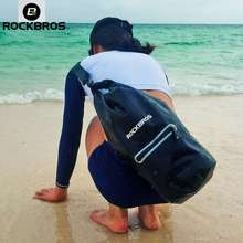 RockBros Swimming Bag Beach Waterproof Bucket Bag Shoulder Bag Women Floating Diving Drifting Outdoor Tourism Storage Bag 20L (AS-024-1BK)