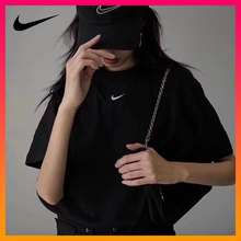 Feiyue Home Store Nike Classic Series Tops Women'S Sports T-Shirt Casual Round Neck Short Sleeve Black Ct2588-010