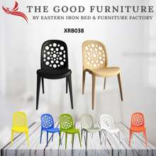 TheGoodFurniture Designer Chair With Backrest In Vibrant Colors. F&B. Dining. Lounge.Plastic.Lightweight Yet Strong And Durable.Stackable