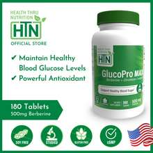 Health Thru Nutrition Official Glucopro Max 180 Tablets | Fast Acting Glucose Support Supplement, Increase Energy, Best For Low Blood Sugar & Diabetes